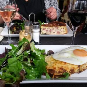 Croque Paysan and Quiche Lorraine