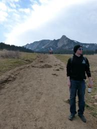 Ready to go. Hiking in Boulder, CO